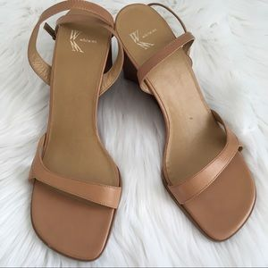 Leather Tan Wedge Sandal